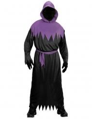 Manden med leen kostume sort og lilla til voksne
