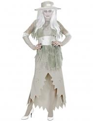 Halloween hvide dame kostume