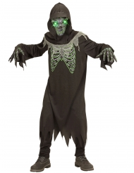 Døden kostume sort og grøn til børn