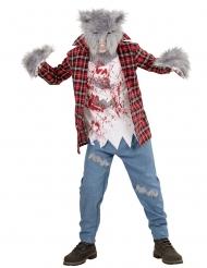 Varulv kostume med pels til børn