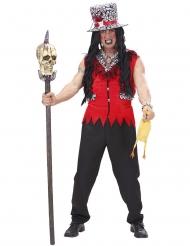Voodoo kostume rød til mand