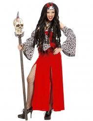 Voodoo kostume rød til kvinder