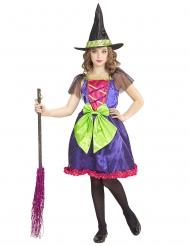 farverig hekse kostume til børn