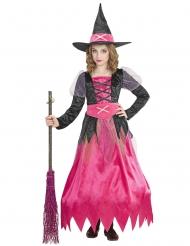 Lille Heksekostume rosa til børn