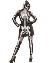 Skelet kostume med gamacher til kvinder