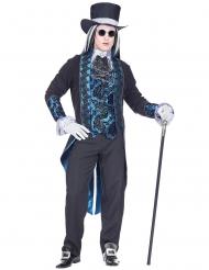 Vampyrkostume blå viktoriansk til mænd