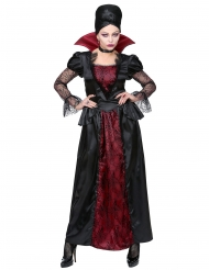 Elegant vampyr kostume mørkerød til kvinder
