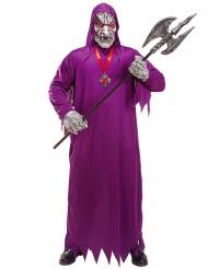 Zombie kostume døden lilla til voksne