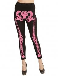 Skelet legging neon lyserød til kvinder
