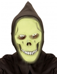 Dødens maske selvlysende grøn til voksne
