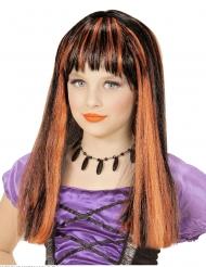 Hekse paryk orange striber til piger