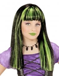 Hekse paryk grønne striber til piger