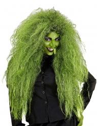 Grøn hekse paryk - kvinde