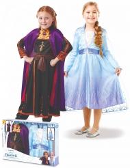 Frost 2™ boks med Elsa og Anna kostume - Pige