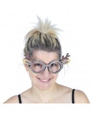 Rensdyrsbriller med glitter voksen