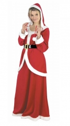 Julemandens kone luksuskostume velour kvinde