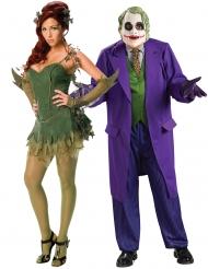 Kostumer til par Poison Ivy™ og Joker™ til voksne