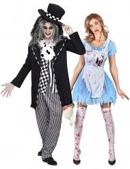 Kostume til par Alice og den gale hattemager til voksne