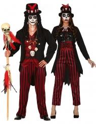Voodoo par kostume med striber