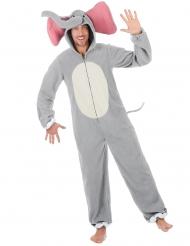 Elefant kostume grå - mand