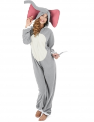 Elefant kostume grå - kvinde