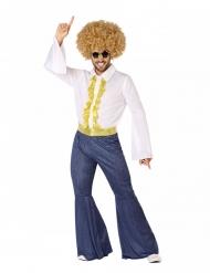 Disko kostume jeans og guld - Mand