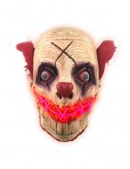 Latex maske klovn med LED til voksne