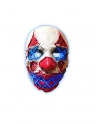 Latex klovne maske med LED til voksne