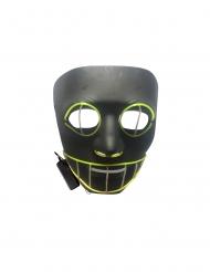 LED Maske sort kat til voksne