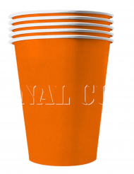 20 Amerikanske kopper miljøvenlig karton 53 cl - orange