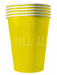 20 Amerikanske kopper miljøvenlig karton 53 cl - gul