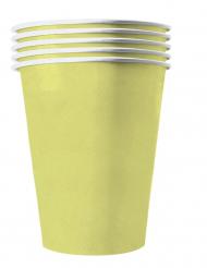 20 Amerikanske kopper miljøvenlig karton 53 cl - pastel gul