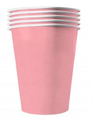 20 Amerikanske kopper miljøvenlig karton 53 cl - Pastel lyserød