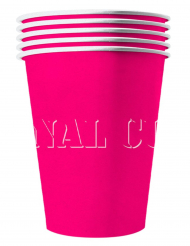 20 Amerikanske kopper miljøvenlig karton 53 cl - lysrød