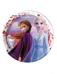 8 Store paptallerkner Frozen 2™ 23 cm