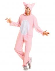 Lyserød gris kostume voksen