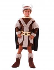 Viking kostume brun - barn
