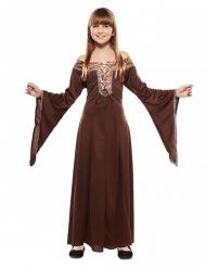 Middelalder kjole brun - barn