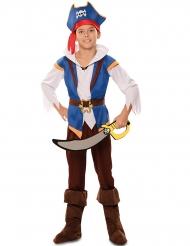 Eventyr pirat kostume blå - dreng
