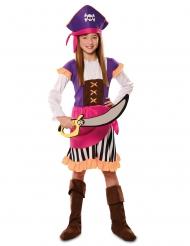 Eventyr pirat kostume lilla - pige