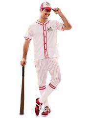 Baseball spiller kostume - mand