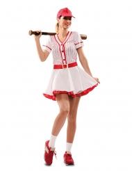 Baseball spiller kostume - kvinde