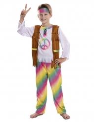 Regnbue hippie kostume - dreng