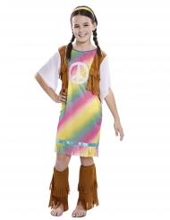 Regnbue hippie kjole kostume - pige