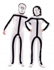 Tændstikman kostume med maske - voksen