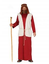 Hyrde kostume rød voksen
