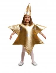 Gylden stjerne kostume barn