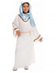 Jomfru Maria Kostume hvid og blå til piger