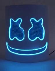 Skumfidus LED DJ maske blå- voksen