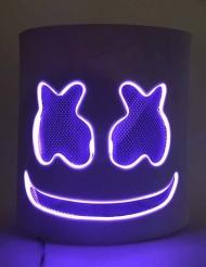 Skumfidus LED DJ maske lilla - voksen